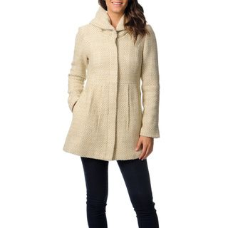 Coffee Shop Women's Basket Weave Faux Wool Coat by CoffeeShop ...