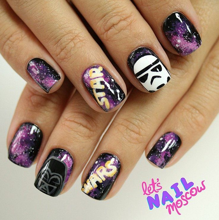 Awaken the Force With These 40 Epic Star Wars Nails - Awaken The Force With These 40 Epic Star Wars Nails Star Wars