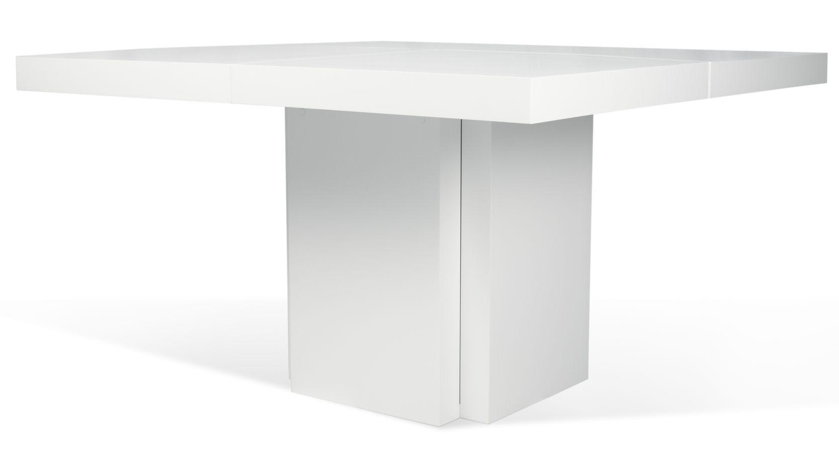 Hoogglans Witte Tafel : Temahome vierkante tafel dusk hoogglans wit dusk