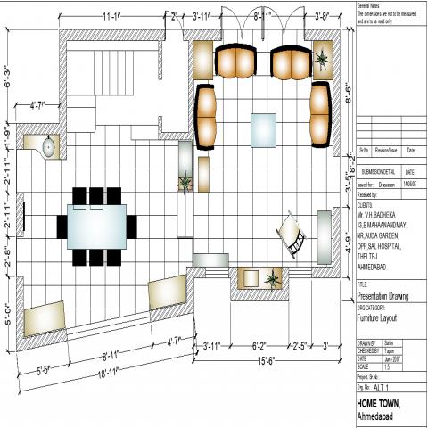 Autocad Drawing Room Furniture blocks & DWG Models in 2020