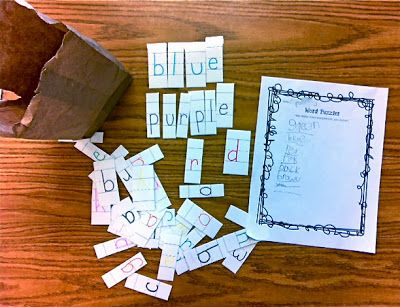 Mystery Color Words, hands-on word work activity + FREEBIE