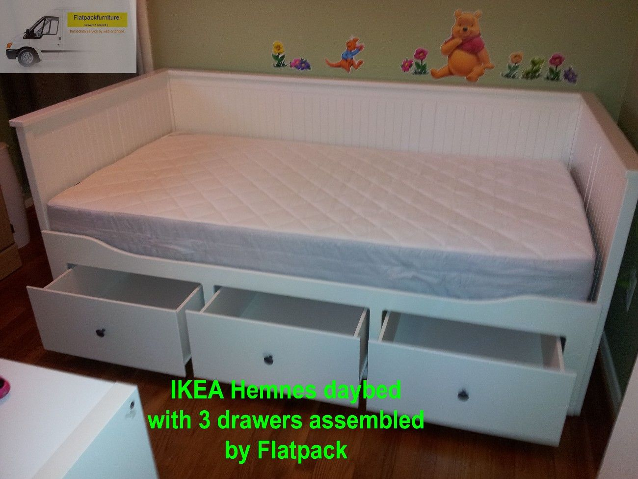 Ikea Hemnes Daybed Frame With 3 Drawers Article Number 303 493 29 Assembled By Flatpack Assemb Ikea Furniture Assembly Furniture Assembly Flat Pack Furniture