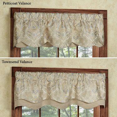 Hollyhock Champagne Layered Window Valance Valance Window
