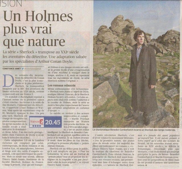 'Sherlock' à la télévision - été 2013