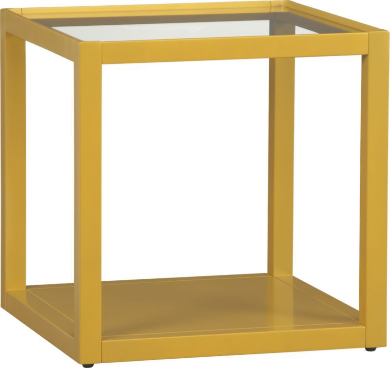 Mimic Lemongrass Cube In Accent Tables | Crate And Barrel