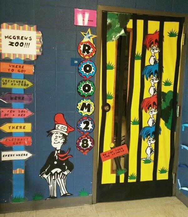 Classroom Zoo Ideas : Dr seuss if i ran the zoo door bulletin board