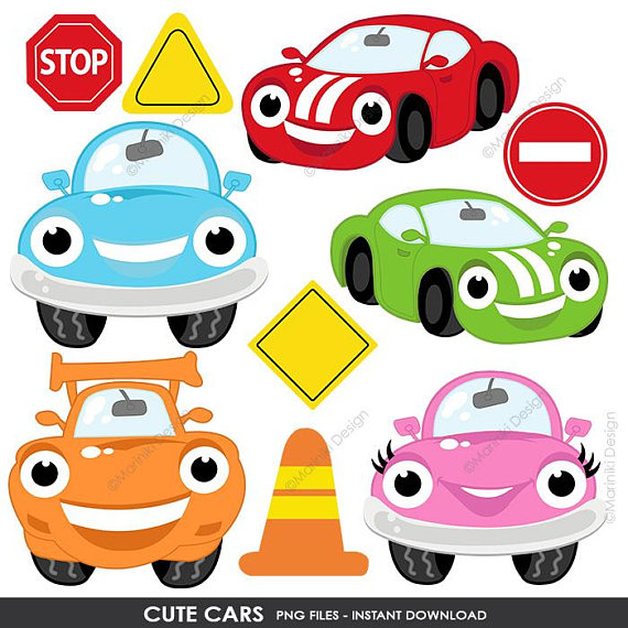 Cute Cars Clipart Transportation Clip Art On The Road Road Sign