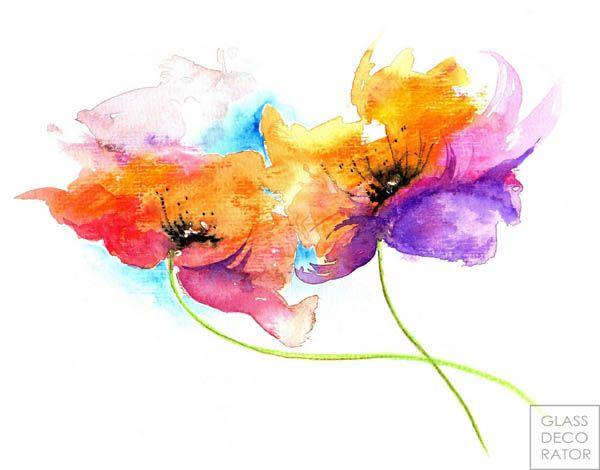 Kwiaty Akwarele Pictures Abstract Watercolor Flower Watercolor Illustration Watercolor Flowers