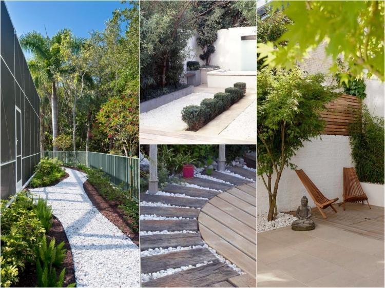 galet d coratif blanc plus de 45 id es pour vous inspirer all es de jardin chaises en bois. Black Bedroom Furniture Sets. Home Design Ideas