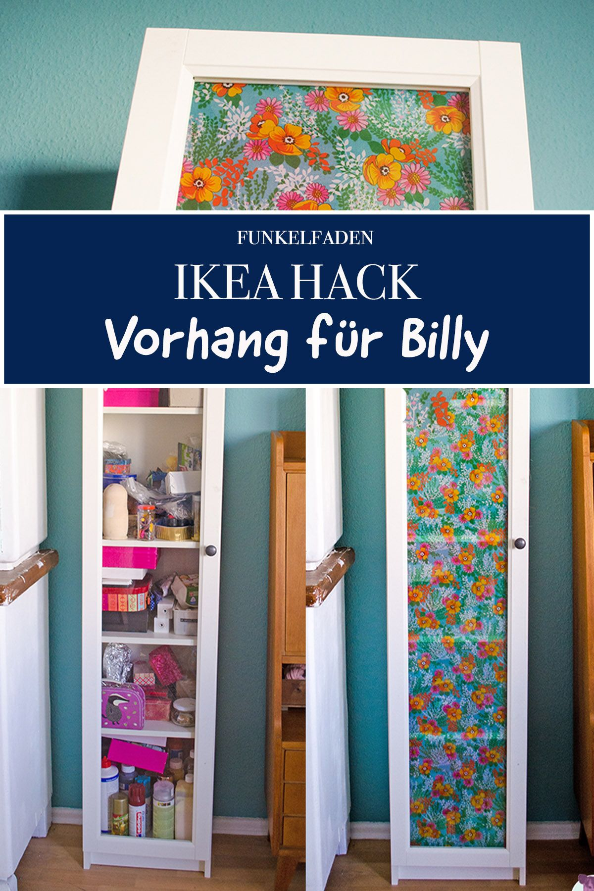 Mini Ikea Hack Billys Tur Wird Bunt Stoffcover Furs Regal Bauen Regal Bauen Billy Regal Ideen Billy Regal Turen