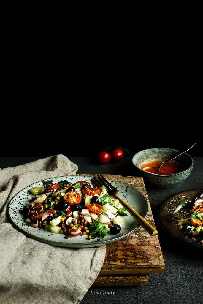 Lentil-Radieschen-Salat mit Chili-Limetten-Dressing | foodfashionparty | Gastbeitrag von @boxofspice