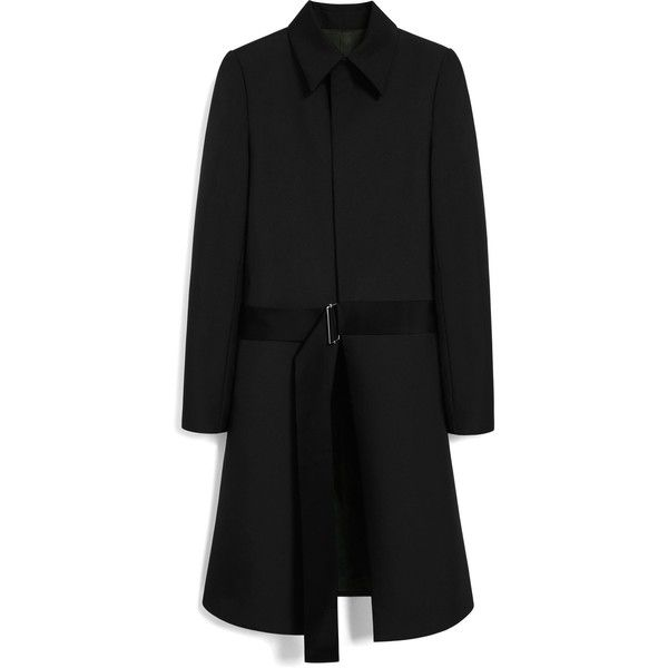 Mulberry Emma Coat (£945) ❤ liked on Polyvore featuring outerwear, coats, black, metallic coat, embroidered coat and mid length coat