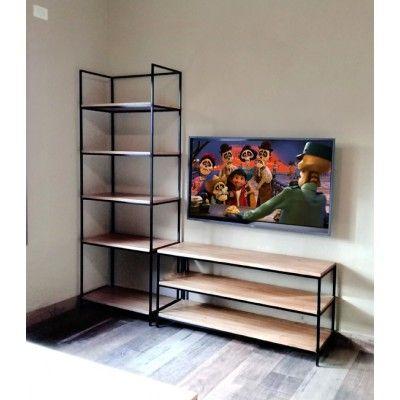 Bibliotecas compuestas modulares de tv aparadores de for Disenos de modulares para living