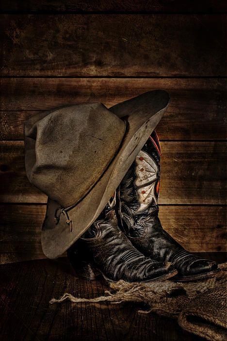 Title Butterfly Boots And Broken In Cowboy Hat Artist Leah McDaniel Medium  Photograph 5f1b952106d0