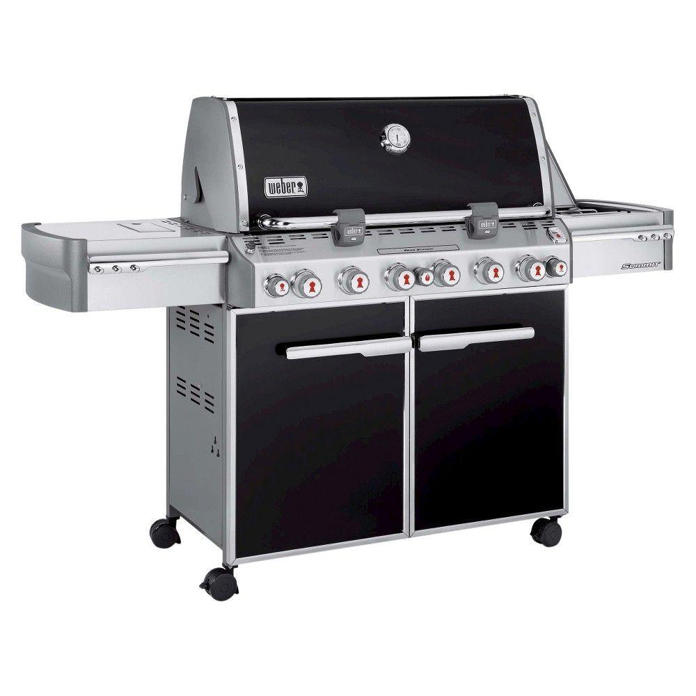 Weber Summit E670 LP Gas Grill, Black Propane gas grill