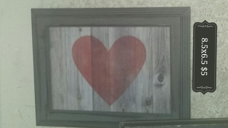 Framed Heart by BeachN10th on Etsy