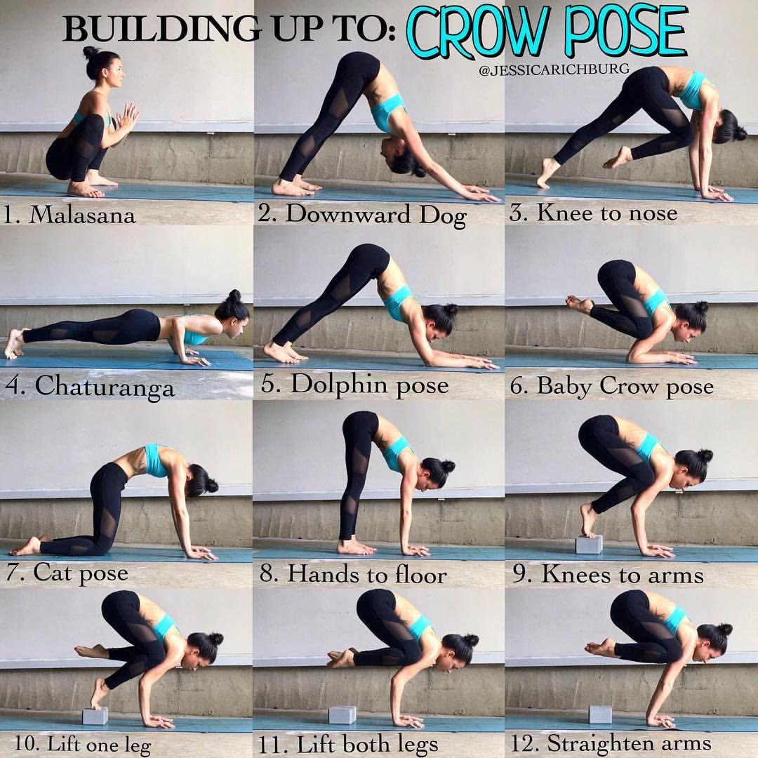 Crow Pose Yoga Steps