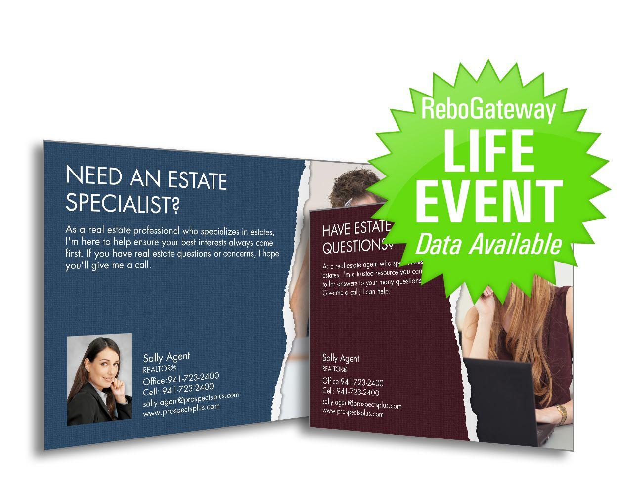 Life Event Postcards  Real Estate Agent Postcard Marketing