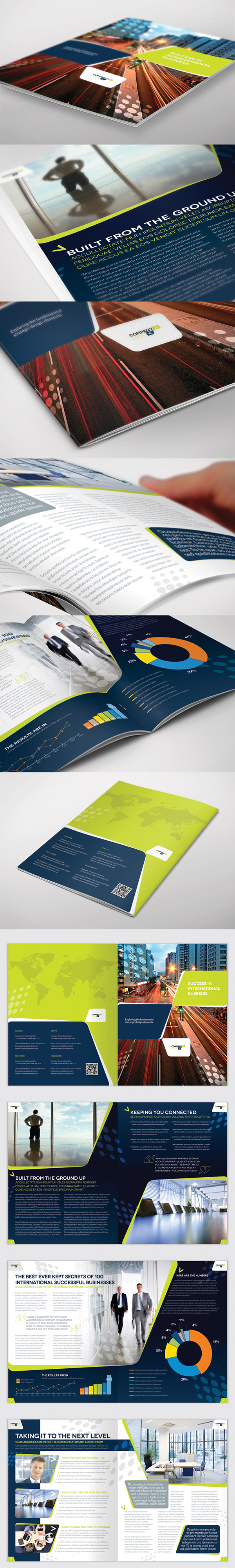 Brochure Template - InDesign 8 Page Layout 03 on Behance | Brochure ...