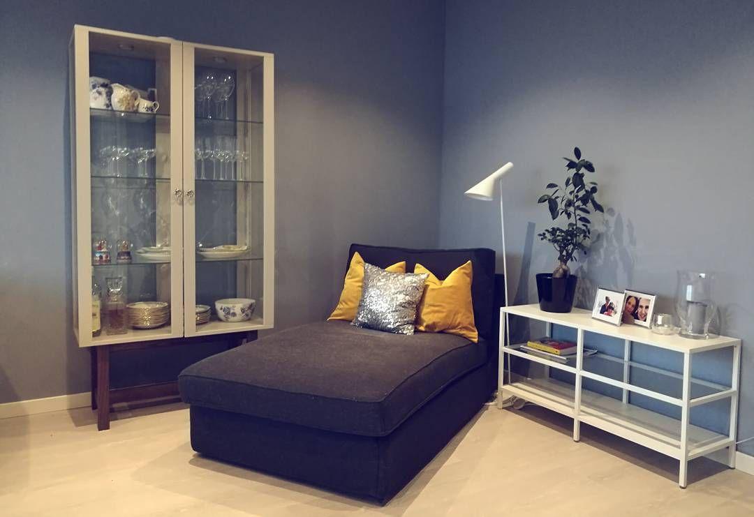 "hannafskjaak) på Instagram: ""Stue! #bolig123 #ajlamp #livingroom ..."
