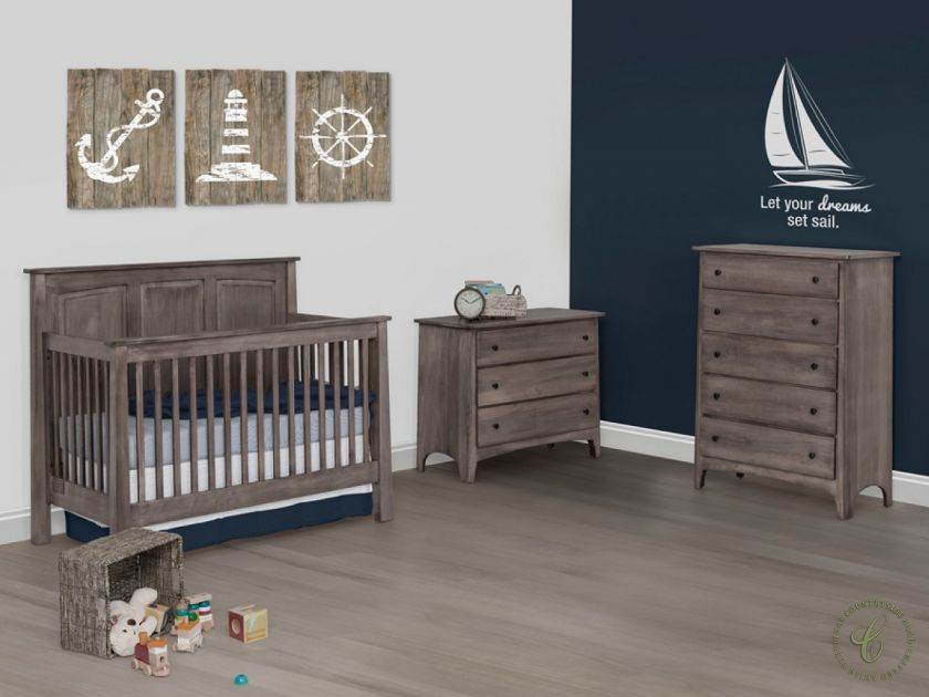 The Madigan Amish Nursery Series Showcases A Modern Shaker Style