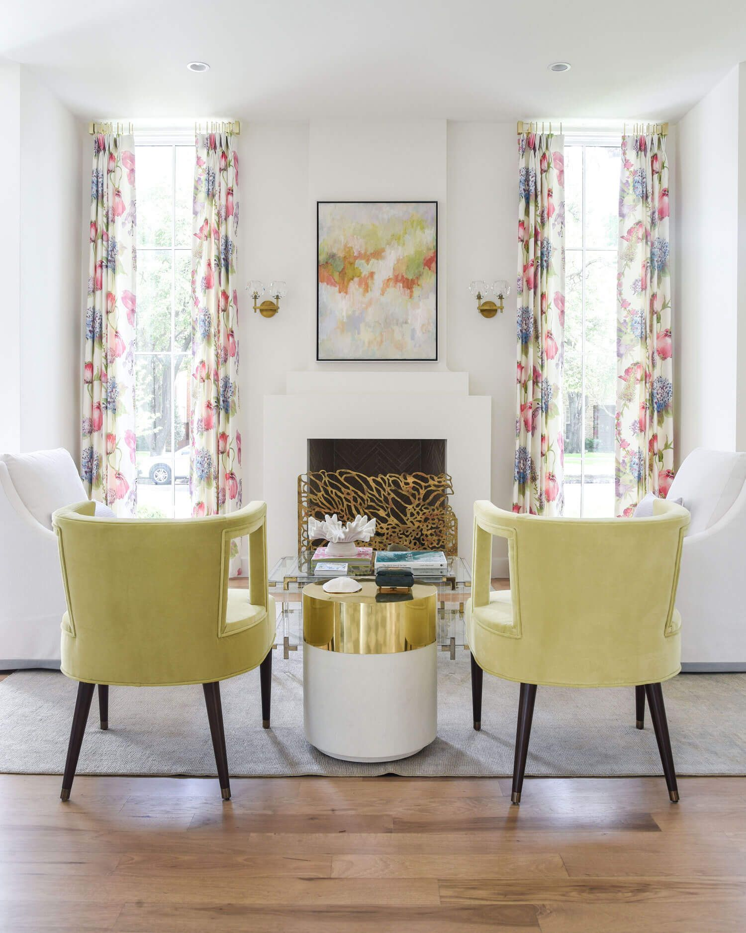 Formal living room with color   Dallas Interior Design by ...