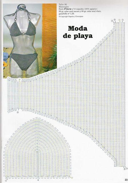 Crochet Bikini Bra Pattern Diagram Craft Pinterest Bra Pattern