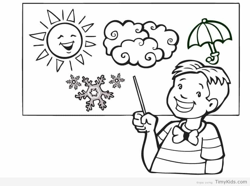 http://timykids.com/weather-coloring-page.html | Colorings | Pinterest