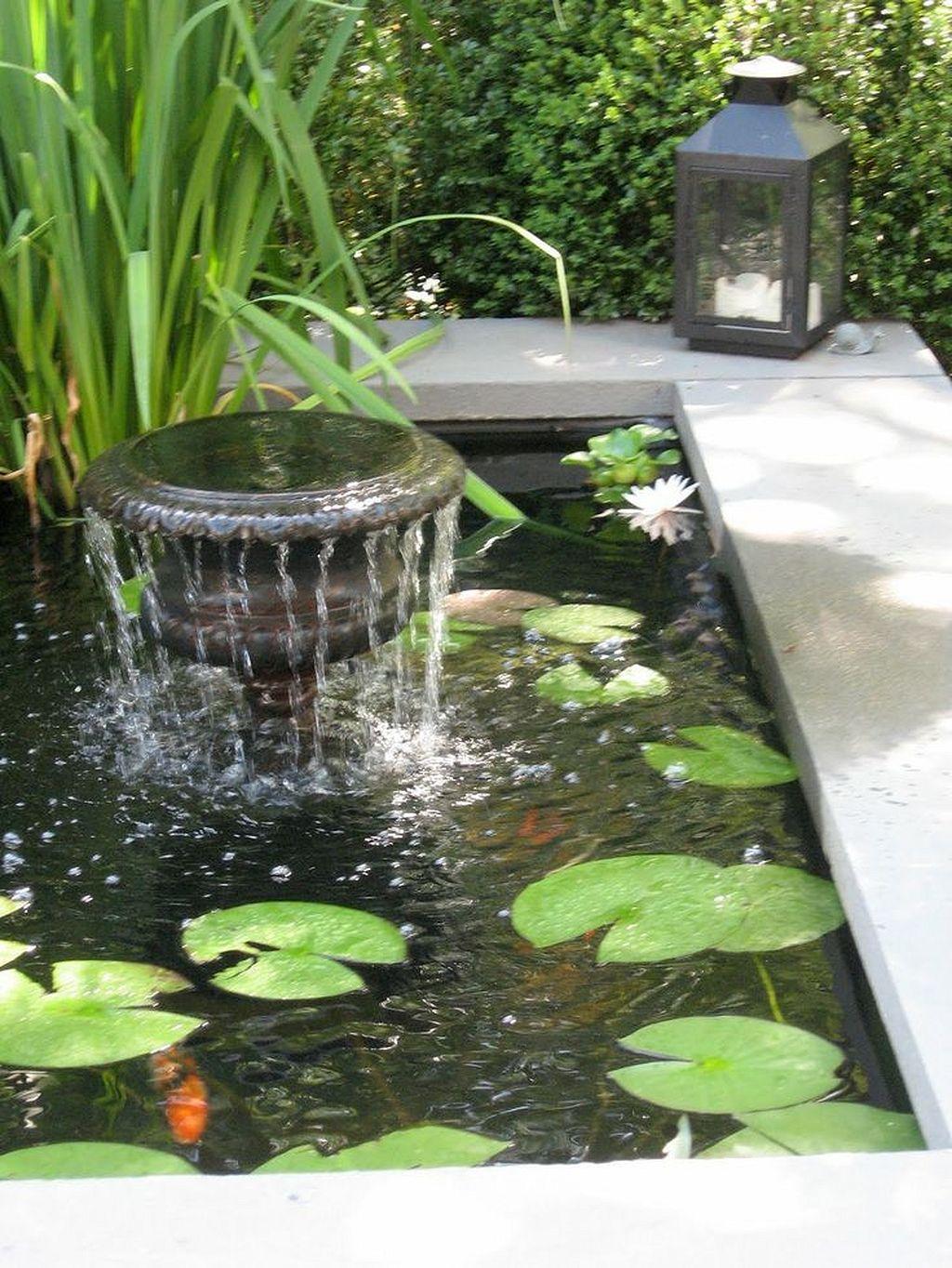 Gorgeous 30 Creative Pond And Fountain Ideas Https Gardenmagz Com 30 Creative Pond And Fountain I Diy Garden Fountains Backyard Water Feature Ponds Backyard
