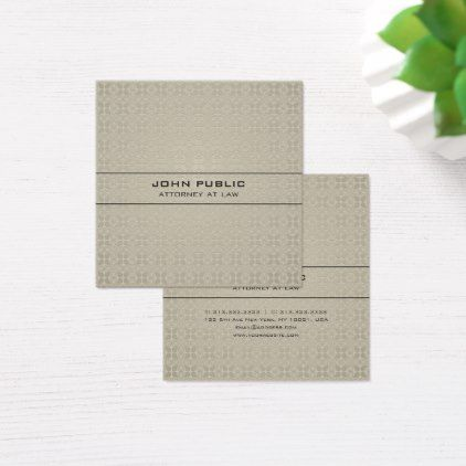 Law office attorney modern elegant silk luxury square business card reheart Choice Image
