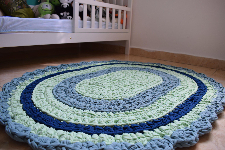T Shirt Yarn Rug Hand Made Carpet
