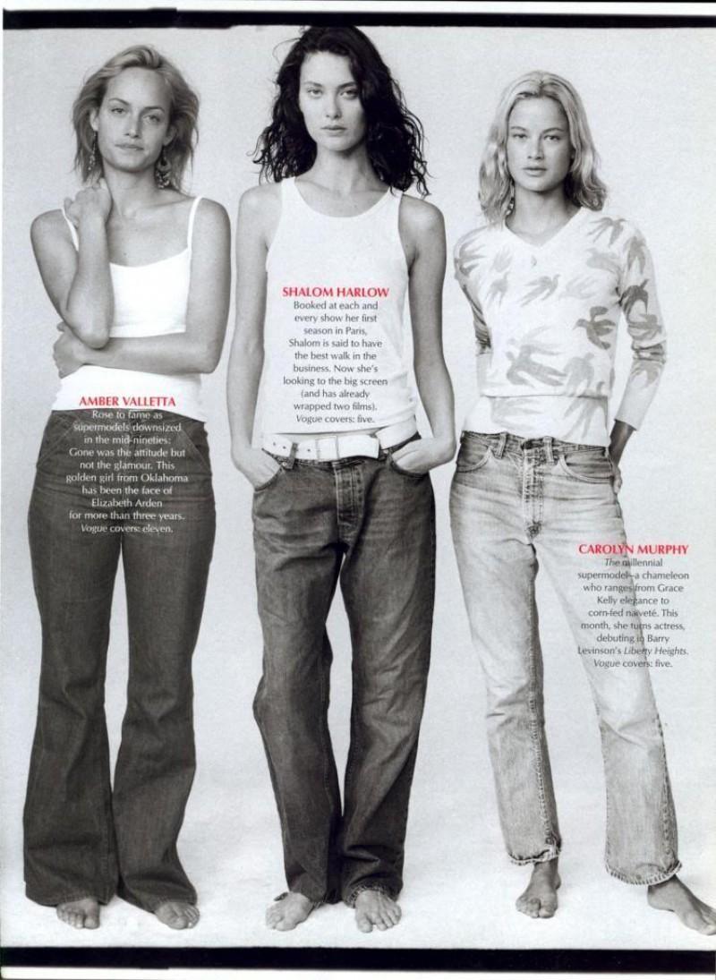 Amber Valletta, Shalom Harlow, Carolyn Murphy   American Vogue  The  Hubermodels  by Annie Leibovitz e4db56bc5b6