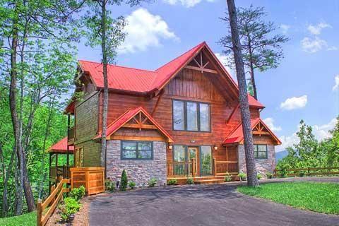 Soaring Spirit 5 Bedroom Vacation Rental Luxury Great Smoky Mountains Parkside Resort Cabin Vacation Cabin Cabin Rentals