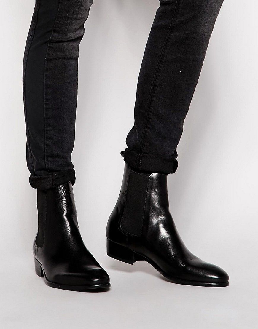 Image 1 of Hudson London Watts Leather Chelsea Boots