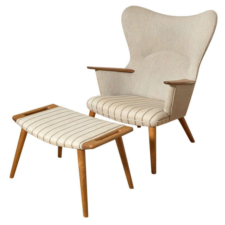 Hans Wegner Mamma Bear AP 28 | From a unique collection of antique and modern lounge chairs at http://www.1stdibs.com/furniture/seating/lounge-chairs/