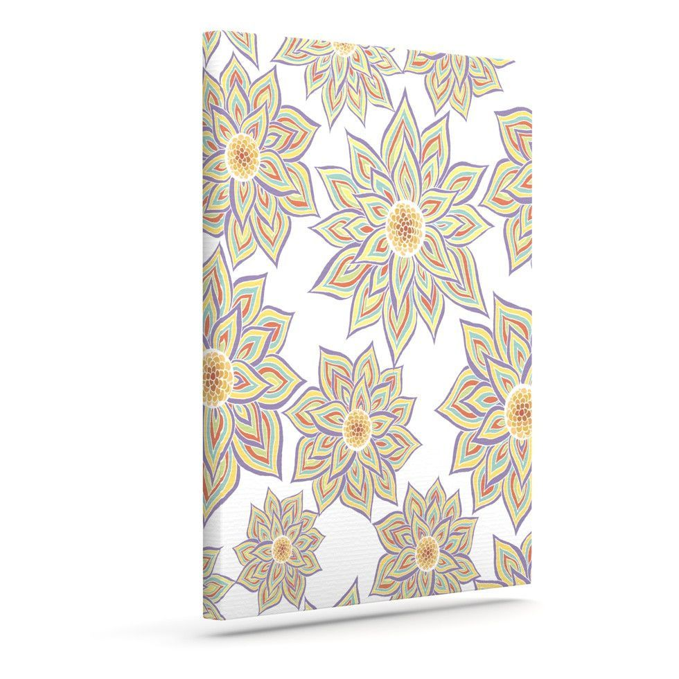 "Pom Graphic Design ""Floral Dance"" Outdoor Canvas Wall Art"