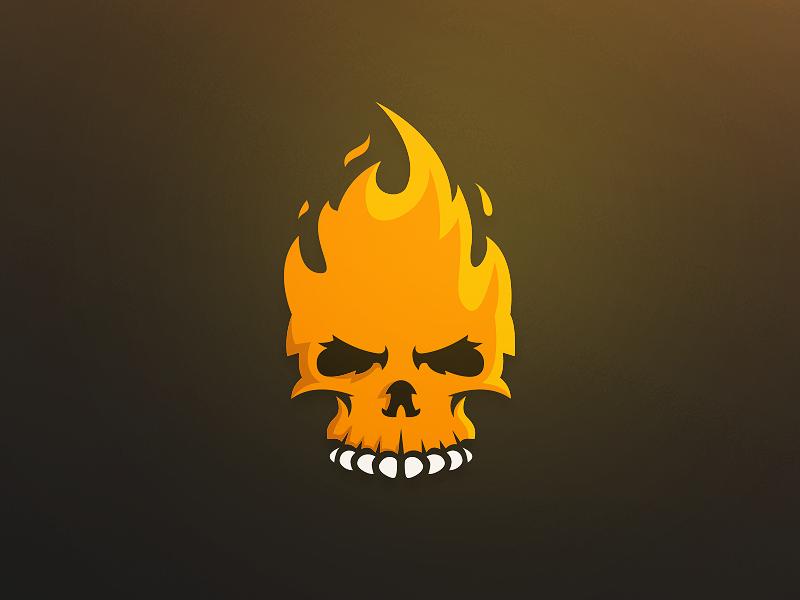 Fire Skull Logo Art Logo Skull Logo Skull Art