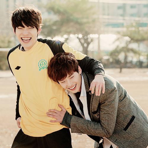 Besties. Lee Jong Suk and Kim Woo Bin. #ManCrushMonday