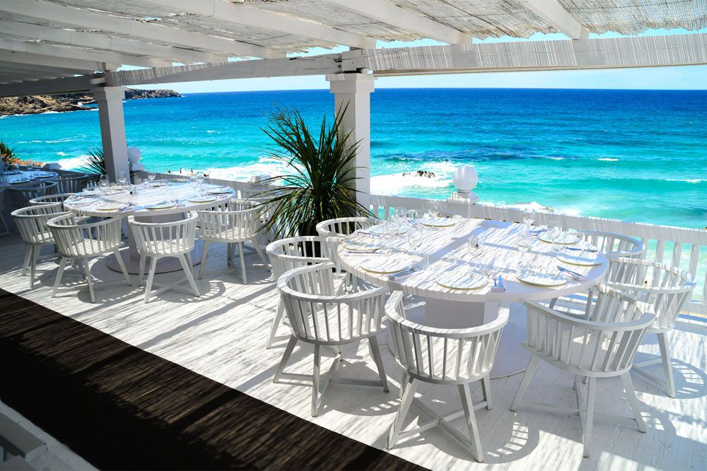 cotton beach club located above cala tarida beach is a hip exclusive place to eat drink chill in style - Beach Style Restaurant 2016