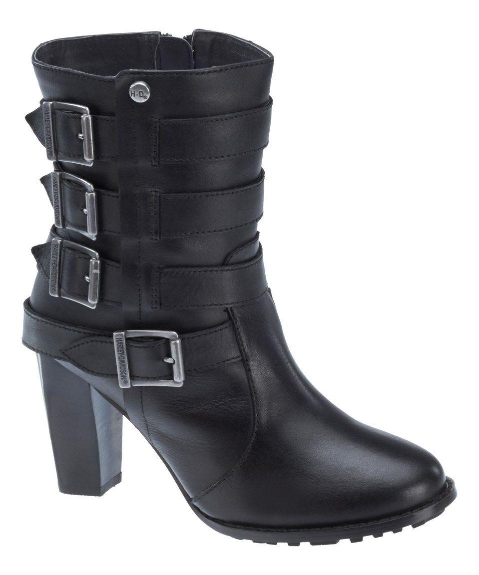 Loving this Harley-Davidson Footwear Black Fayette Bootie on  zulily!   zulilyfinds   Clothes (Mel) d2f0a788c4