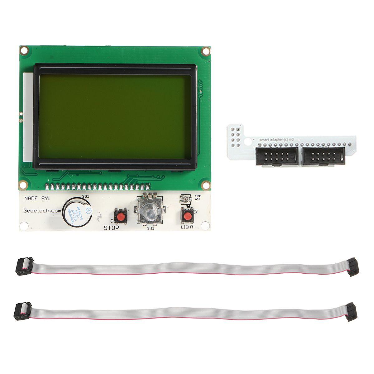 Lcd 12864 Impresora 3d Smart Pantalla Controlador Herramientas Kit Mega 2560 R3 Ramps 1 4 5 A4988 Drivers Para Arduino Repeler Ramps14
