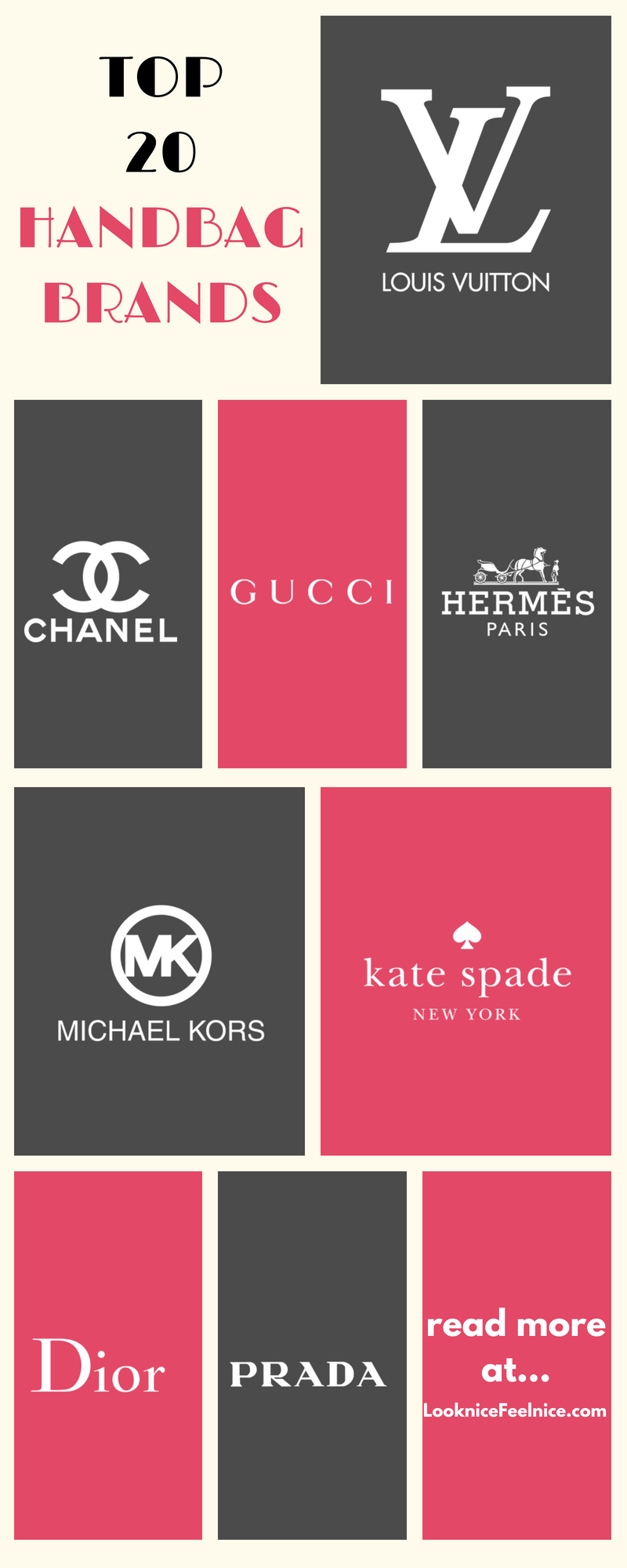 Top 20 Handbag Brands That Are Most