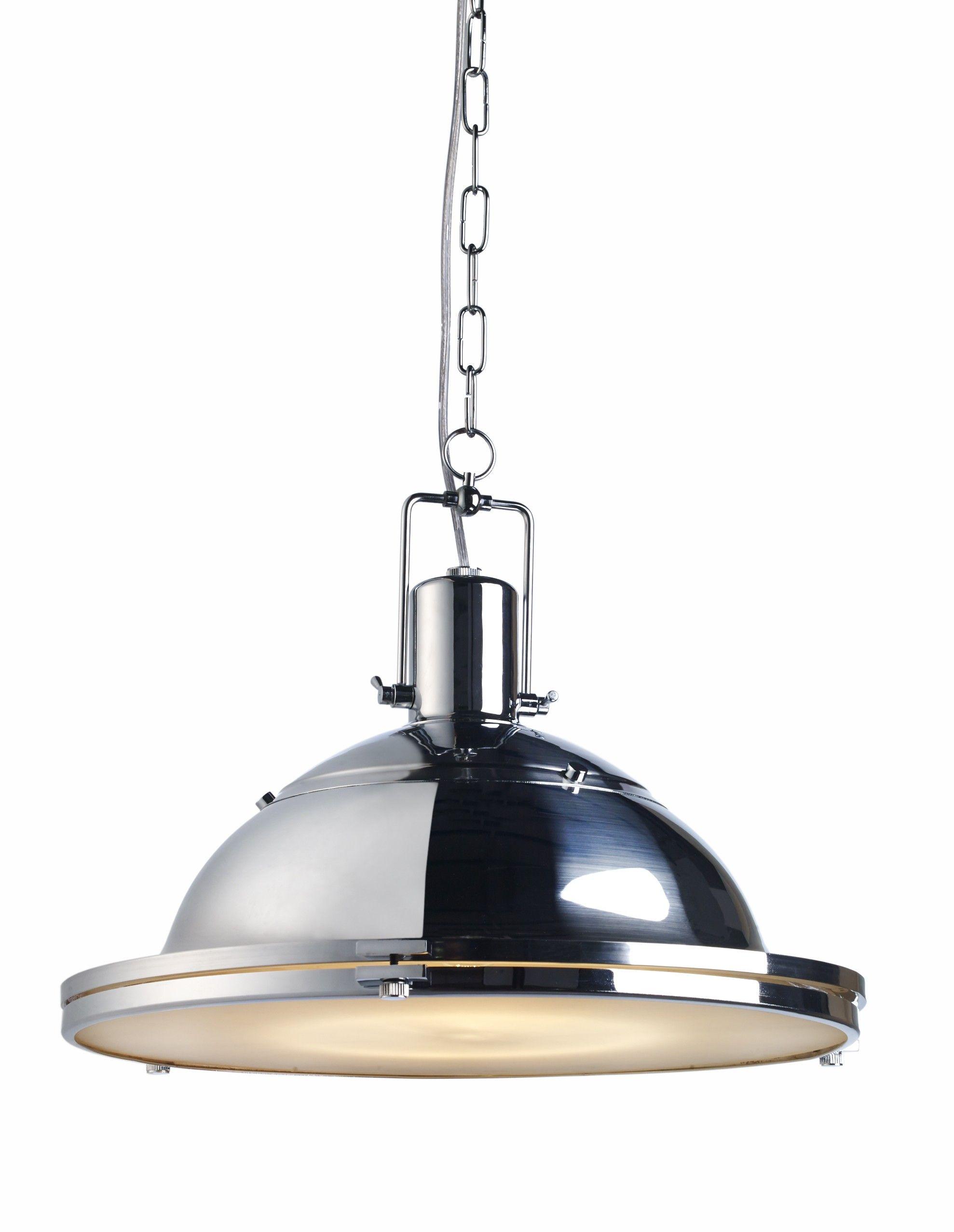 Marine style of single ceiling pendant light LILIUS chrome ...