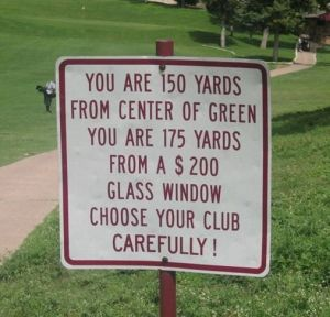 Which Club Would You Use??  I would use my trusty 7 iron....and right in the hole!