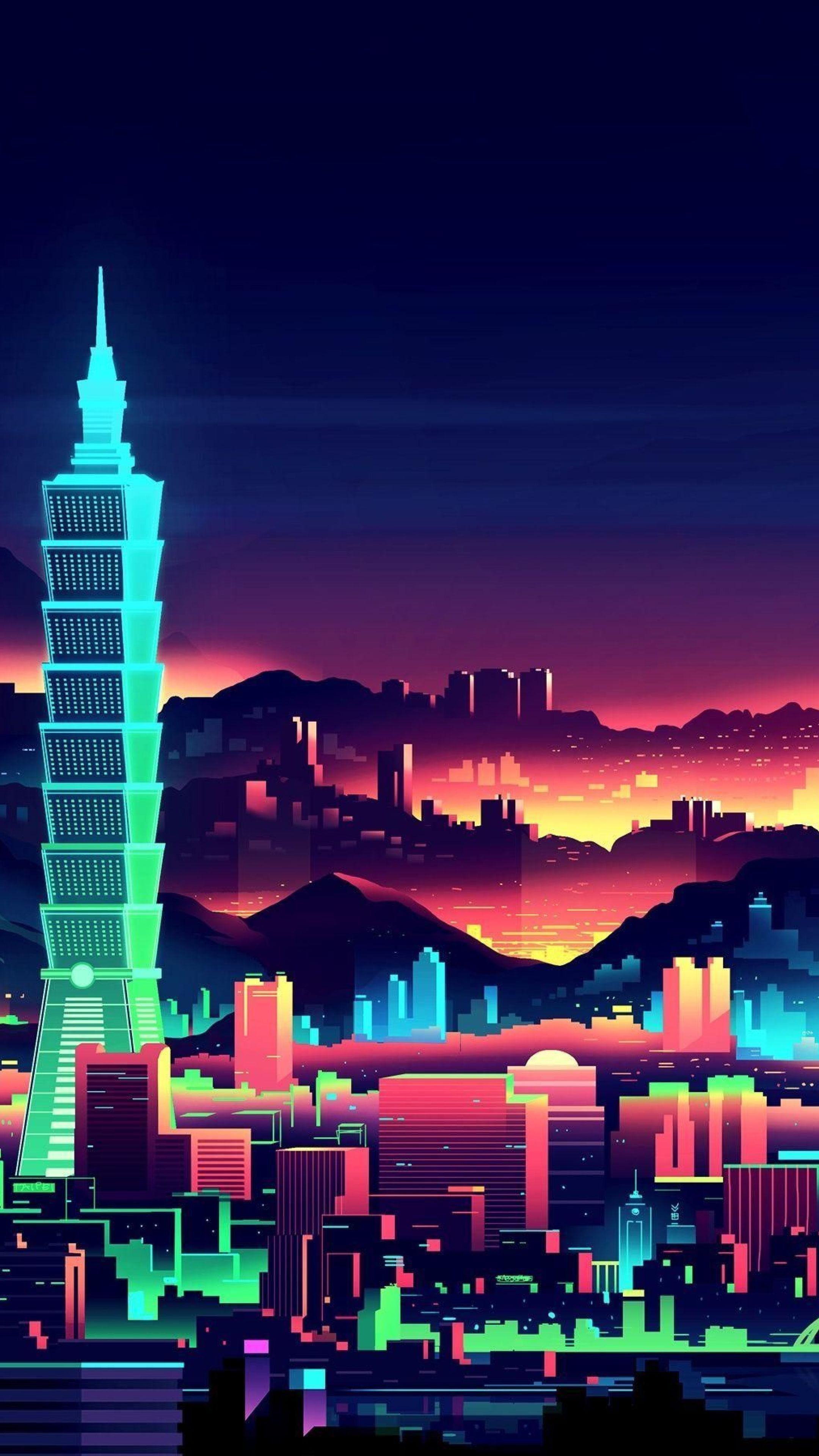 4k Minimalist Wallpapers 259 Kota Cyberpunk City Art Pemandangan Khayalan