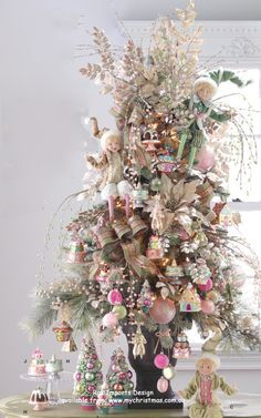 Dusky Pink Christmas Decorations Google Search Amazing Christmas Trees Candy Christmas Tree Christmas Tree Themes