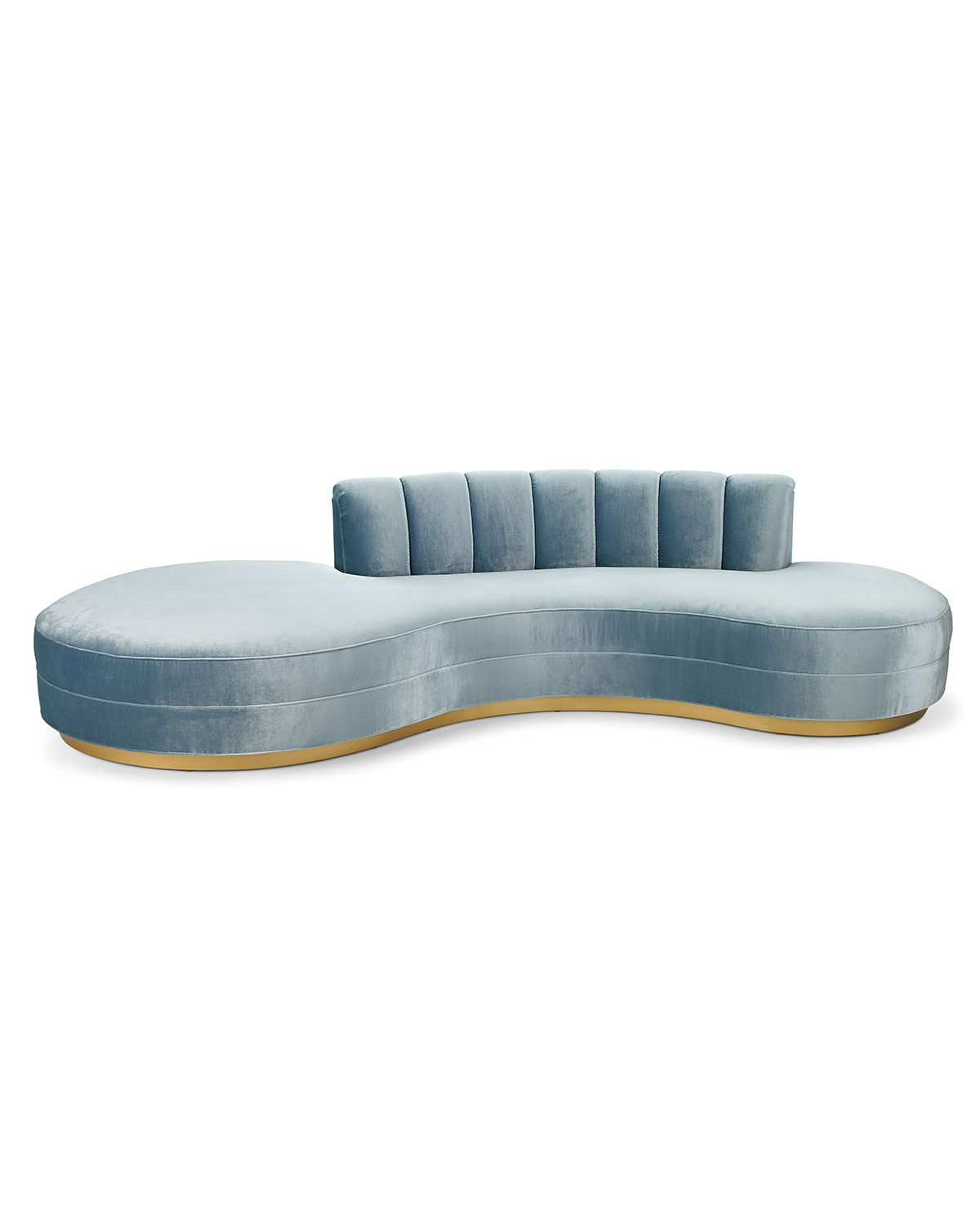 """Haute House Layla Chanel Tufted Curved Sofa 121"""""""