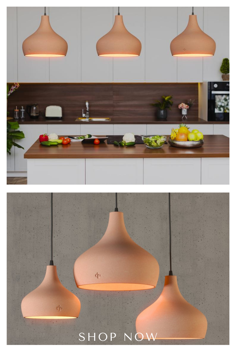 The sleek and modern design that adds the natural feel to you surroundings. Perfect for Kitchen island, Dining Bar, Restaurants, cafes. Available in 3 different sizes and Plug in/Hard-wired. Pin it to shop this look. #Naayastudio #ceramiclighting #pendantlight #naturalbrownbisque #diningrooms #kitchenislandlighting #diningbar #livingroomdecor #banquette #homedecor #homeimprovement #hospitalitydesign #restaurantdesign