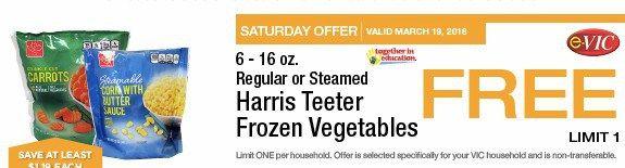Harris Teeter : FREE Bag of Frozen Vegetables 3/19 Only - http://couponsdowork.com/harris-teeter-ad/harris-teeter-vic-free-31916/