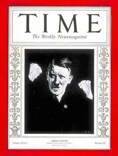 TIME Magazine Cover: Adolf Hitler - Dec. 21, 1931 - Adolph Hitler ...